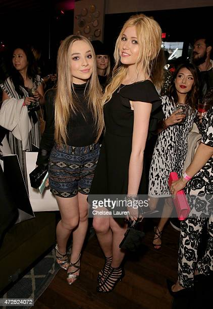 Recording artist/actress Sabrina Carpenter and actress Katherine McNamara attend the NYLON Young Hollywood Party presented by BCBGeneration at HYDE...