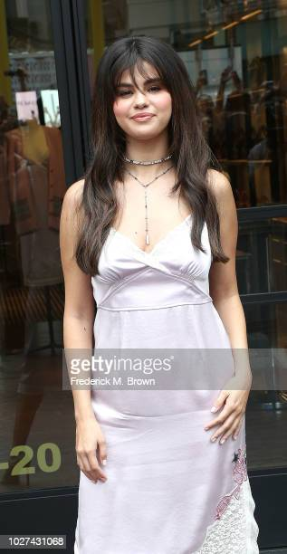 Recording artist/actress Selena Gomez attends Coach Host Meet Greet with Selena Gomez at at The Grove on September 5 2018 in Los Angeles California