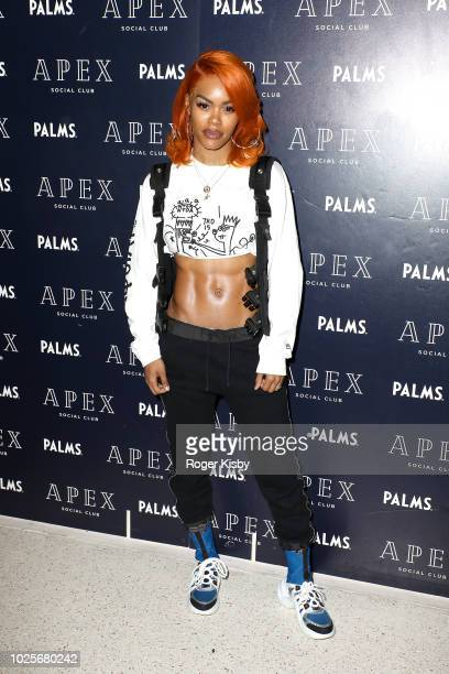 Recording artist/actress Teyana Taylor arrives at Apex Social Club at Palms Casino Resort on September 1 2018 in Las Vegas Nevada
