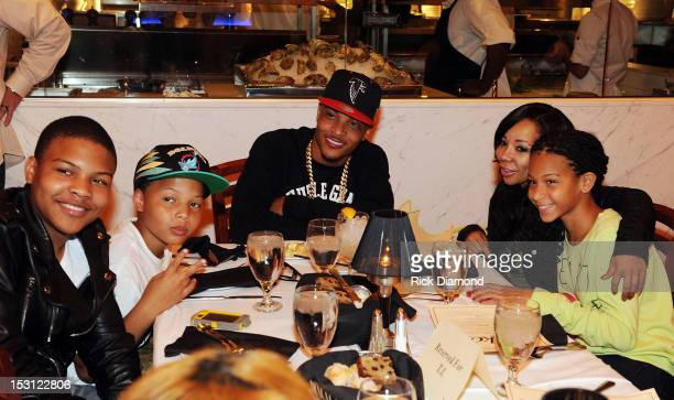 Recording Artist/Host TI Tiny TI's wife and there family at the AKOO's 2nd Annual 'A King Of Oneself Brunch' Hosted By TI at Ocean Prime on September...