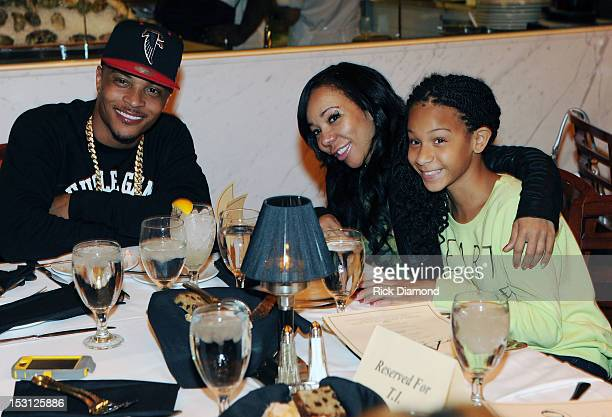 Recording Artist/Host TI with Tiny his wife and family at AKOO's 2nd Annual 'A King Of Oneself Brunch' Hosted By TI at Ocean Prime on September 30...