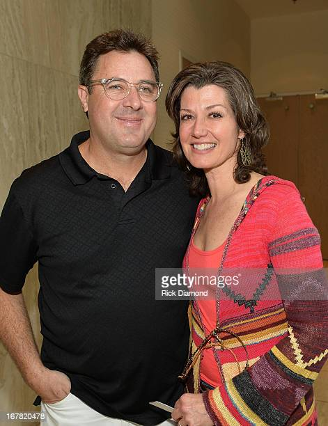 Recording Artist/Husband Vince Gill and Amy Grant attend the Amy Grant Album Launch Party at ASCAP on April 30 2013 in Nashville Tennessee