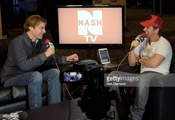 Recording Artist/NASH TV Stokes Nielson and Singer/Songwriter Kip Moore attends Red Carpet Radio Presented By Westwood One For The American County...
