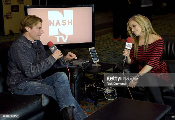 Recording Artist/NASH TV Stokes Nielson and Singer/Songwriter Lindsay Ell attend Red Carpet Radio Presented By Westwood One For The American County...