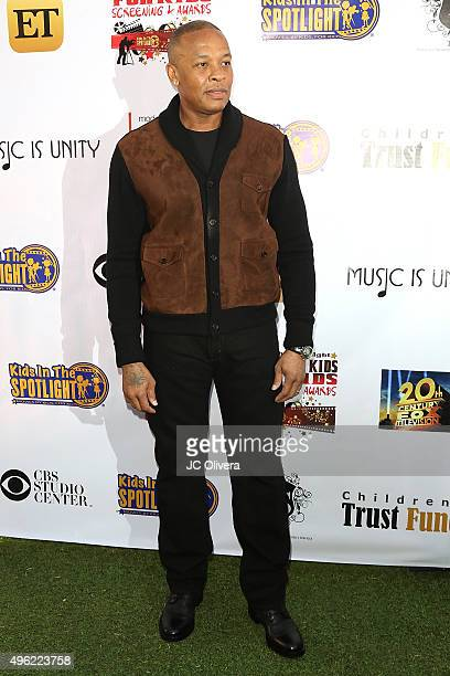 Recording artist/producer Andre Romelle Young AKA Dr Dre attends Kids In The Spotlight Film Awards at Fox Studios on November 7 2015 in Los Angeles...