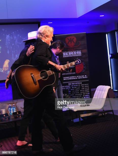 Recording Artist/Producer Don Was and Kris Kristofferson attend A Look Into The Life Songs Of Kris Kristofferson on The Steps at WME on October 26...