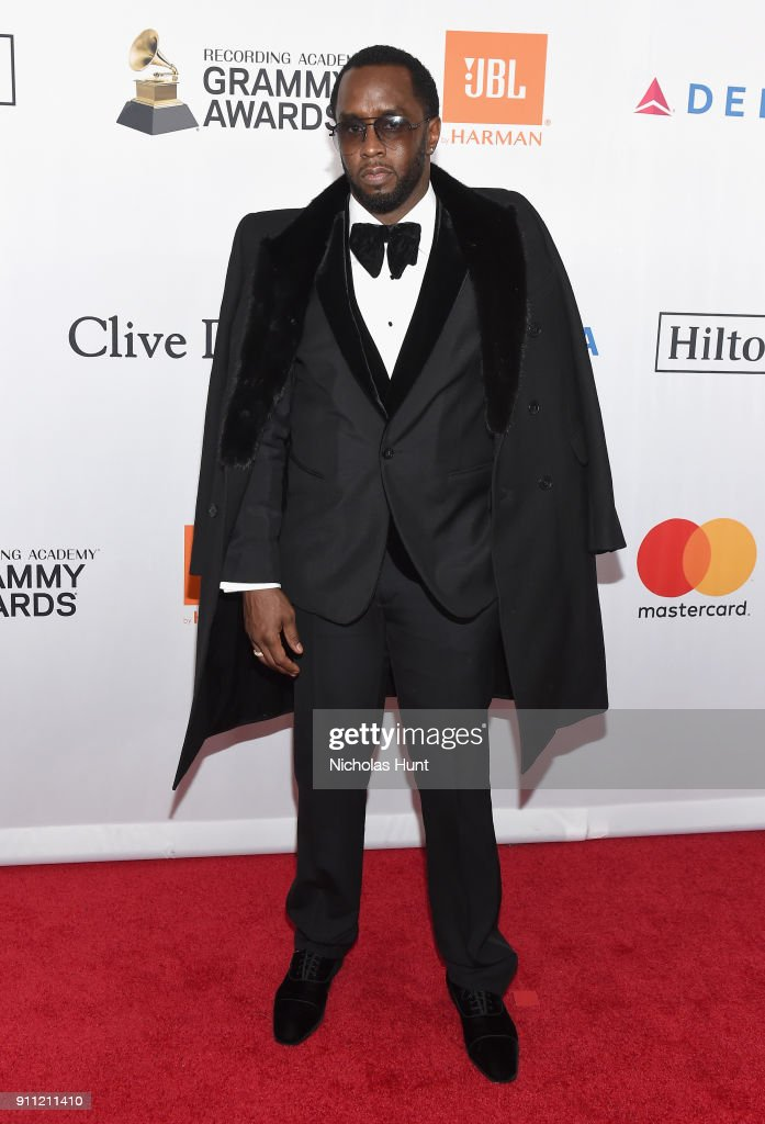 Recording artist-producer Sean 'Diddy' Combs attends the Clive Davis and Recording Academy Pre-GRAMMY Gala and GRAMMY Salute to Industry Icons Honoring Jay-Z on January 27, 2018 in New York City.