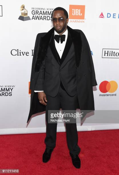 Recording artistproducer Sean 'Diddy' Combs attends the Clive Davis and Recording Academy PreGRAMMY Gala and GRAMMY Salute to Industry Icons Honoring...