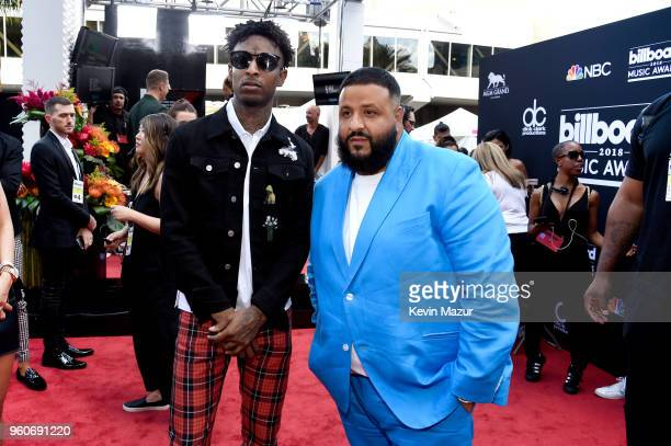 Recording artists 21 Savage and DJ Khaled attend the 2018 Billboard Music Awards at MGM Grand Garden Arena on May 20 2018 in Las Vegas Nevada