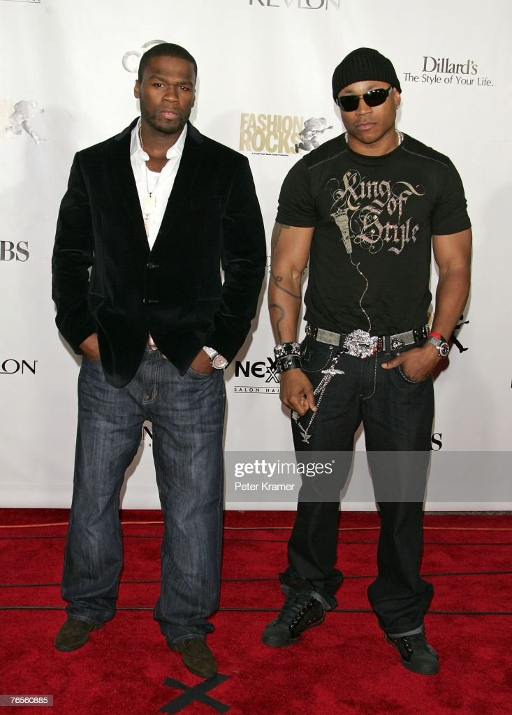 Recording artists 50 Cent (L) and LL Cool J attend the Conde Nast Media Group's Fourth Annual Fashion Rocks Concert at Radio City Music Hall September 6, 2007 in New York City.