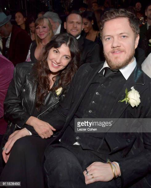 Recording artists Aja Volkman and Dan Reynolds of musical group Imagine Dragons attend the 60th Annual GRAMMY Awards at Madison Square Garden on...