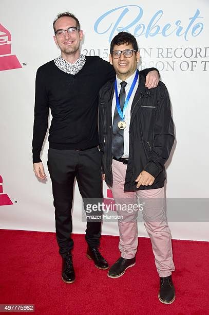 Recording artists Alain Gomez and Rafael Urbina of musicial group Famasloop attend the 2015 Latin GRAMMY Person of the Year honoring Roberto Carlos...