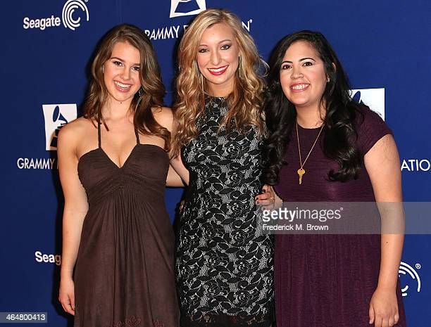 Recording artists Alaina Stacey Katy Bishop and Kristen Castro attend the 56th GRAMMY Awards Foundation Legacy Concert at The Wilshire Ebell Theatre...