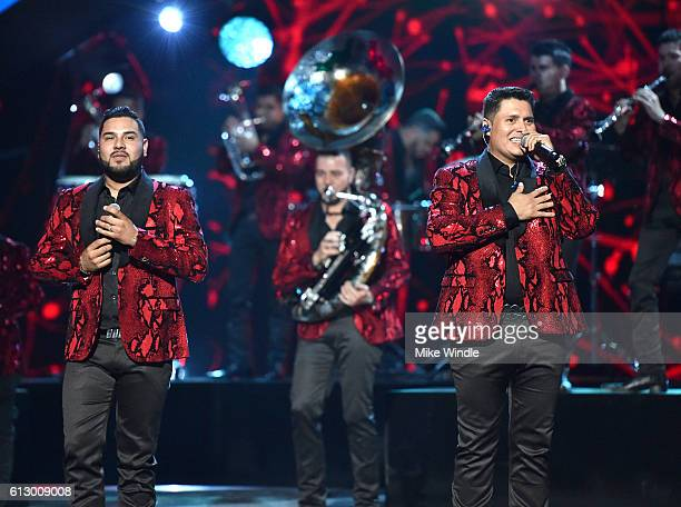 Recording artists Alan Ramirez and Sergio Lizarraga of Banda MS perform onstage during the 2016 Latin American Music Awards at Dolby Theatre on...