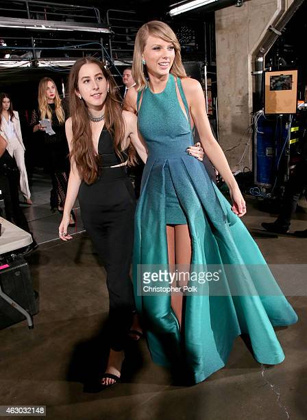 Recording artists Alana Haim and Taylor Swift attend The 57th Annual GRAMMY Awards at STAPLES Center on February 8 2015 in Los Angeles California