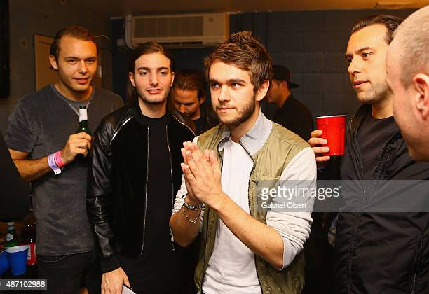 Recording artists Alesso and Zedd attend 971 AMP Radio Presents AMPLIFY 2015 at the Hollywood Palladium on March 20 2015 in Los Angeles California