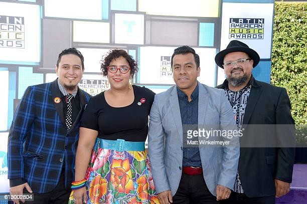 Recording artists Alex Bendana Marisol Hernandez Jose Carlos and Miguel Ramirez of La Santa Cecilia attend the 2016 Latin American Music Awards at...