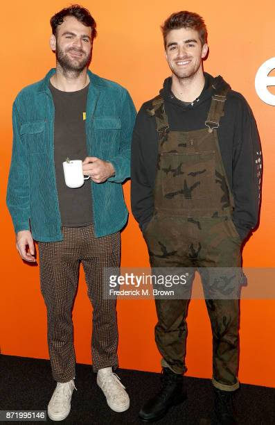 Recording artists Alex Pall and Andrew Taggart attend Ember Launch Celebrating a Journey Through Temperature and Taste at Goya Studios on November 8...
