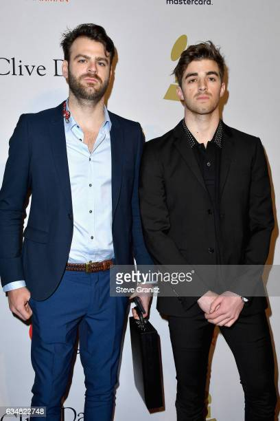 Recording artists Alex Pall and Andrew Taggart of The Chainsmokers attend the 2017 PreGRAMMY Gala And Salute to Industry Icons Honoring Debra Lee at...