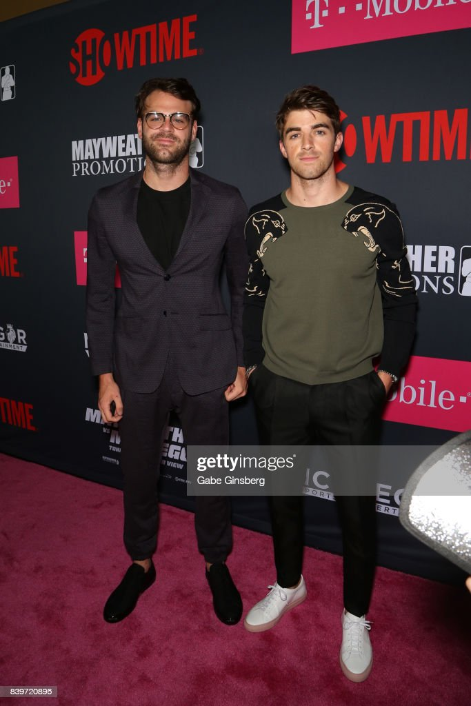 """""""SHOWTIME, WME IMG, and MAYWEATHER PROMOTIONS VIP Pre-Fight Party Arrivals on the T-Mobile Magenta Carpet For """"Mayweather VS McGregor"""" : News Photo"""