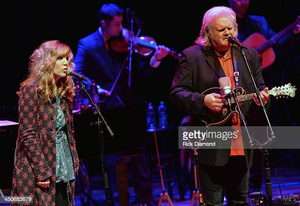 Recording Artists Alison Krauss and Ricky Skaggs along with Ricky's band Kentucky Thunder perform during Ricky Skaggs Day 2 Bluegrass Rules at the...