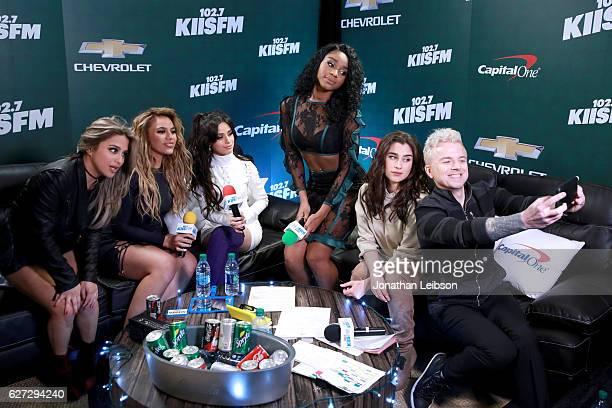 Recording artists Ally Brooke, Dinah Jane Hansen, Camila Cabello, Normani Kordei Hamilton, and Lauren Jauregui of music group Fifth Harmony and radio...