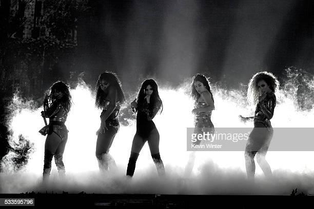 Recording artists Ally Brooke DinahJane Hansen Camila Cabello Normani Hamilton and Lauren Jauregui of Fifth Harmony perform onstage during the 2016...