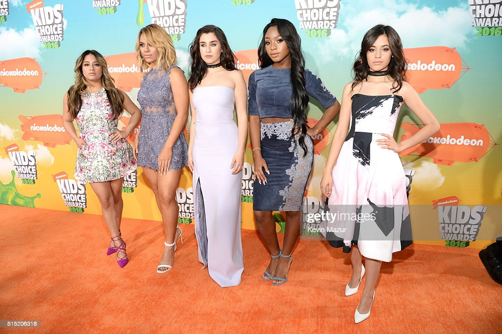 Recording artists Ally Brooke, Dinah-Jane Hansen, Lauren Jauregui, Normani Kordei and Camila Cabello of Fifth Harmony attend Nickelodeon's 2016 Kids' Choice Awards at The Forum on March 12, 2016 in Inglewood, California.