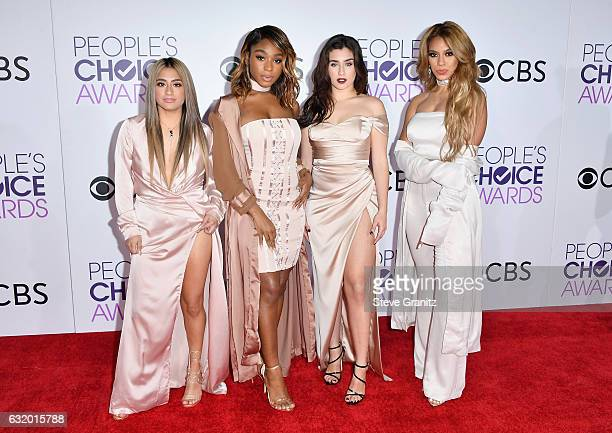 Recording artists Ally Brooke Normani Hamilton Dinah Jane Hansen and Lauren Jauregui of Fifth Harmony attend the People's Choice Awards 2017 at...