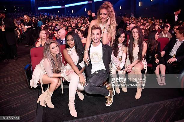 Recording artists Ally Brooke Normani Hamilton Dinah Jane Hansen Franke Grande Camila Cabello and Lauren Jauregui of Fifth Harmony attend the 2016...