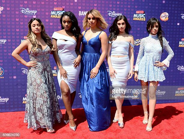 Recording artists Ally Brooke Normani Hamilton DinahJane Hansen Lauren Jauregui and Camila Cabello of Fifth Harmony attend the 2016 Radio Disney...