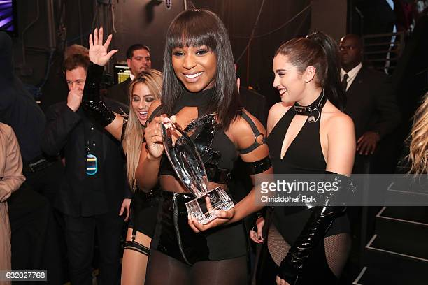 Recording artists Ally Brooke Normani Kordei and Lauren Jauregui of music group Fifth Harmony winners of the Favorite Group award attend the People's...