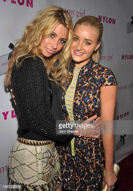 Recording artists Aly Michalka and Amanda AJ Mischalka attend NYLON Magazine And Tommy Girl Celebrate The Annual May Young Hollywood Issue Party at...