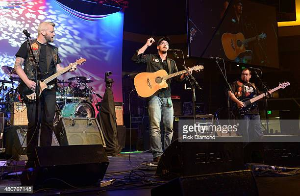 Recording Artists American Hitmen perform during Lipscomb University's Copperweld Charlie Daniels' Scholarship for Heroes event at Allen Arena...