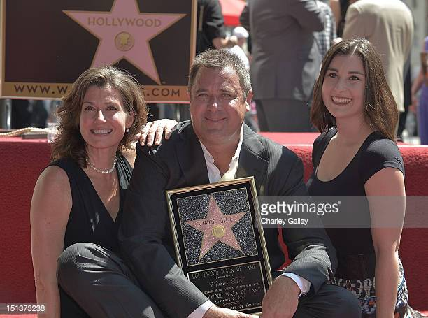 Recording artists Amy Grant and Vince Gill and Gill's daughter Jenny Gill attend Vince Gill being honored with a Star on the Hollywood Walk of Fame...