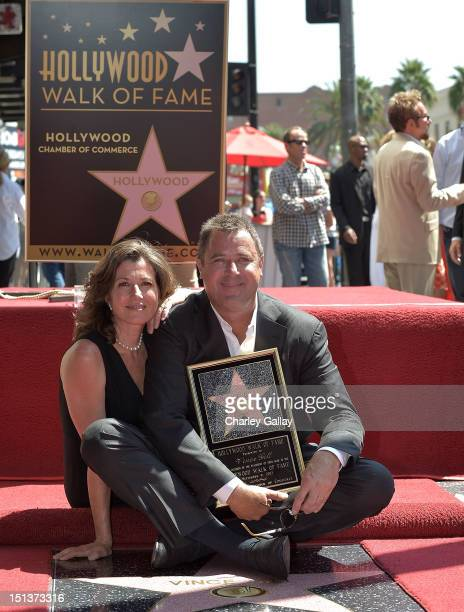 Recording artists Amy Grant and Vince Gill attend Vince Gill being honored with a Star on the Hollywood Walk of Fame on September 6 2012 in Hollywood...