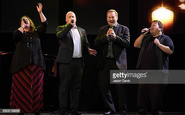Recording Artists Amy Perry Todd Smith and Allan Hall of Selah and Michael English perform onstage during the 3rd Annual GMA Honors on May 10 2016 in...