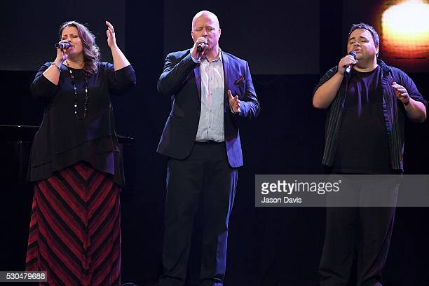 Recording Artists Amy Perry Todd Smith and Allan Hall of Selah performs onstage during the 3rd Annual GMA Honors on May 10 2016 in Nashville Tennessee