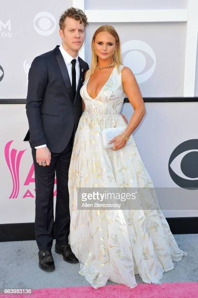 Recording artists Anderson East and recording artist Miranda Lambert arrive at the 52nd Academy Of Country Music Awards on April 2 2017 in Las Vegas...