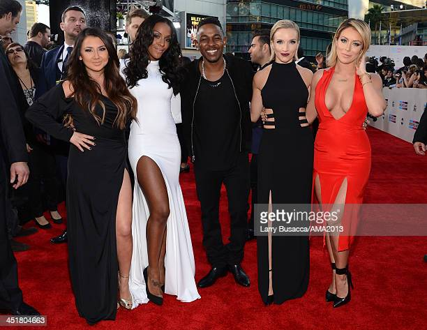 Recording artists Andrea Fimbres and Dawn Richards of Danity Kane Kendrick Lamar and Shannon Bex and Aubrey O'Day of Danity Kane attend the 2013...