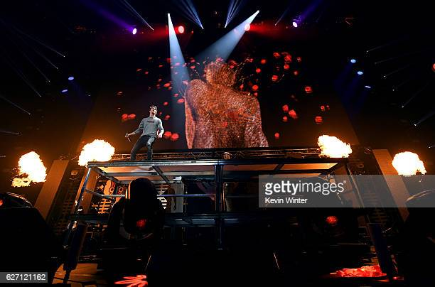 Recording artists Andrew Taggart and Alex Pall of The Chainsmokers perform onstage at WiLD 949's FM's Jingle Ball 2016 presented by Capital One at...