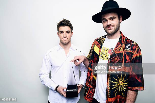 Recording artists Andrew Taggart and Alex Pall recipients of the award for Favorite EDM Group pose for a portrait during the 2016 American Music...