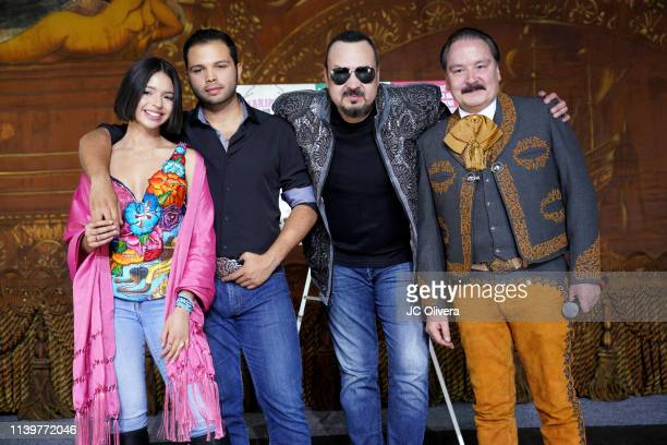Recording artists Angela Aguilar Leonardo Aguilar Pepe Aguilar and Antonio Aguilar Jr attend Pepe Aguilar and Family 'Jaripeo Sin Fronteras 2019'...