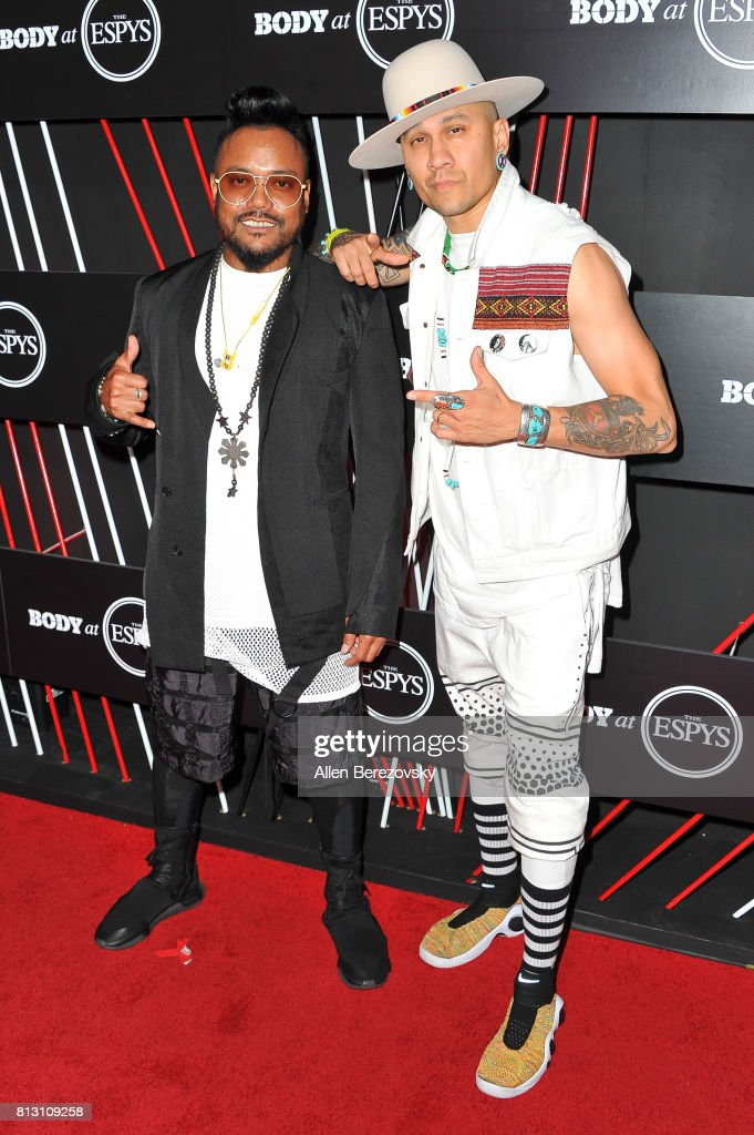 Recording artists apl.de.ap (L) and Taboo of Black Eyed Peas attend BODY At The ESPYS Pre-Party at Avalon Hollywood on July 11, 2017 in Los Angeles, California.