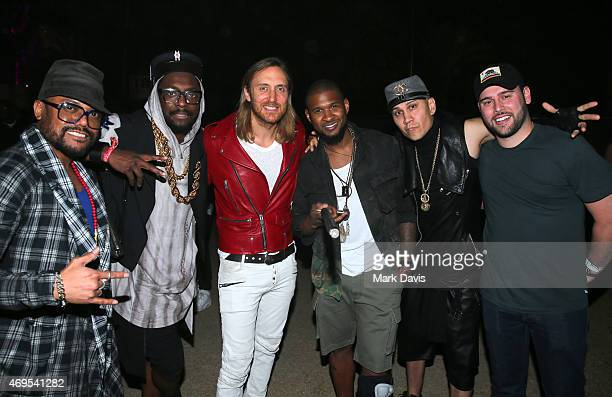 Recording artists apldeap william of The Black Eyed Peas DJ David Guetta singer Usher Taboo of The Black Eyed Peas and music manager Scooter Braun...