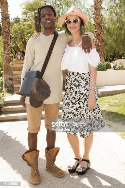 Recording Artists ASAP Rocky and Katy Perry attend the Spotify Brunch at Soho Desert House with Bacardi Day 2n April 12 2014 in La Quinta California