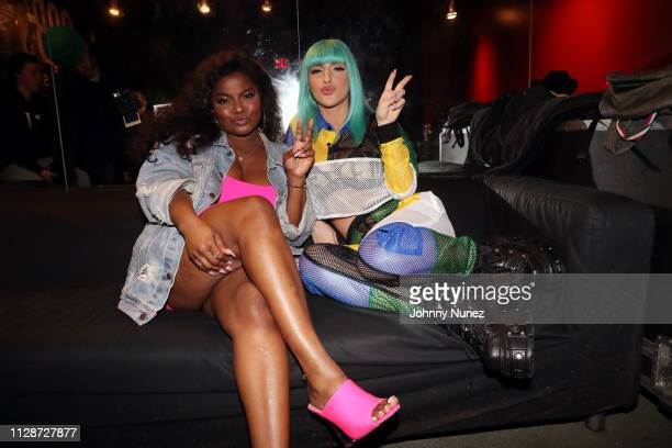 Recording artists Asiahn and Njomza backstage at SOB's on March 4 2019 in New York City