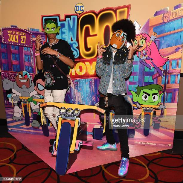 Jouranlist Terrell Thomas attends 'Teen Titans Go To The Movies' Atlanta special screening hosted by Ayo Teo at AMC Phipps Plaza on July 21 2018 in...