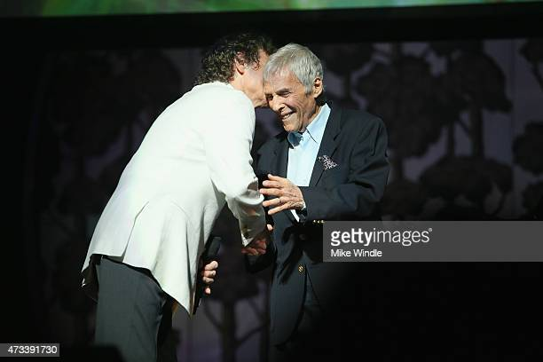 Recording Artists B J Thomas and Burt Bacharach onstage during the SeriousFun Children's Network 2015 Los Angeles Gala An Evening Of SeriousFun...