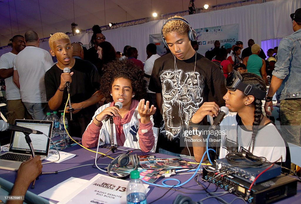 Recording artists Bad Behavior attend Radio Room Day 1 during the 2013 BET Awards at JW Marriott Los Angeles at L.A. LIVE on June 28, 2013 in Los Angeles, California.